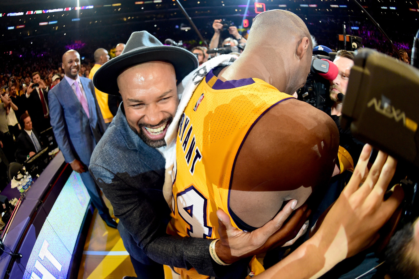 Derek Fisher and Kobe Bryant